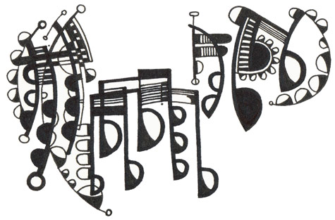 abstract musical notes