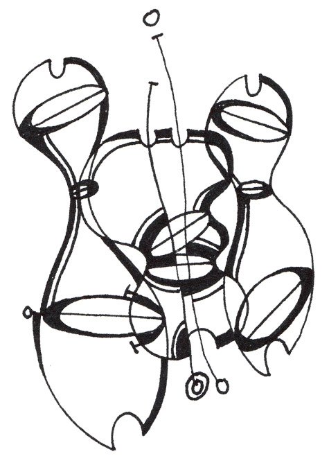 abstract planaria outlines